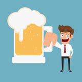 Biznesmena mienia piwo Obraz Royalty Free