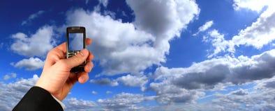 biznesmena mienia telefon komórkowy Zdjęcie Stock