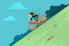 Biznesmena odsetka Jeździecki cykl Obraz Stock