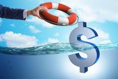 Biznesmena oszczędzania amerykańska dolarowa waluta od inflaci zdjęcia stock