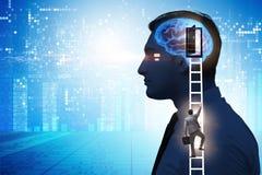 Biznesmena otwarcia drzwi sztuczna inteligencja zdjęcia royalty free