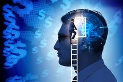 Biznesmena otwarcia drzwi sztuczna inteligencja obraz stock