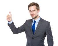 Biznesmena palcowy kciuk up Obrazy Royalty Free
