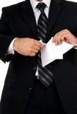 biznesmena papieru łza Zdjęcia Royalty Free