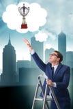 Biznesmena pięcie w kierunku jego biznesowego celu Obraz Stock