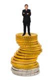 biznesmena pieniądze sterta obrazy royalty free