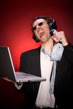 biznesmena śpiew Fotografia Stock