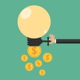 Biznesmena pomysłu otwarta wymiana pieniądze Bezwolnego dochodu pojęcie Zdjęcie Stock