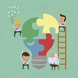 Biznesmena pomysłu zgromadzenie Obraz Stock