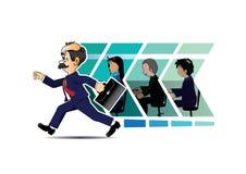 Biznesmena poruszający biznes Naprzód Obraz Royalty Free
