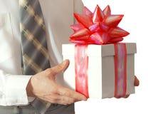 biznesmena prezenta ręki Fotografia Stock