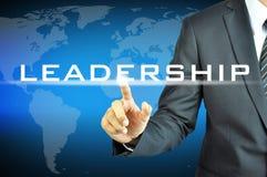 Biznesmena przywódctwo wzruszający znak Obrazy Royalty Free