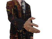 biznesmena ręki uścisk dłoni jego ofiara Powitanie lub gratulowanie gest Na białym tle zdjęcia stock