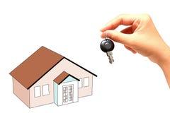biznesmena ręki domu klucze Fotografia Royalty Free
