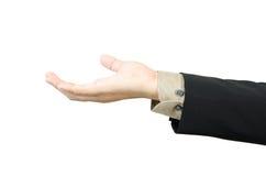 Biznesmena ręki mienia puste miejsce Zdjęcia Stock