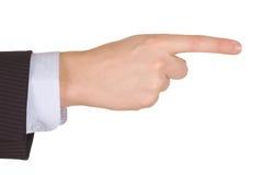 biznesmena ręki punkt Fotografia Stock