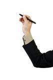 Biznesmena ręki rysunek Zdjęcie Stock