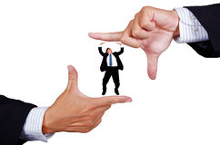biznesmena ramy ręki robienie Zdjęcie Royalty Free