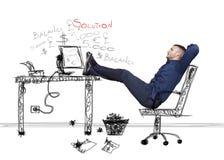 Biznesmena relaksować Zdjęcie Stock