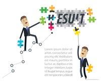 Biznesmena rezultata pojęcie Praca wpólnie na biznesie ilustracja wektor