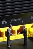 Biznesmena router A Obraz Stock