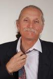 biznesmena rozluźniania krawat Fotografia Stock