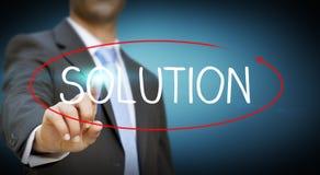 Biznesmena rozwiązania niemożliwy pojęcie Fotografia Stock