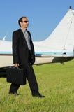 biznesmena samolot zdjęcie royalty free