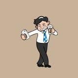 Biznesmena selfie z kawą ilustracji