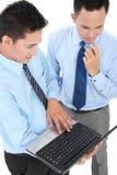 Biznesmena spotkanie używa laptop Zdjęcia Stock
