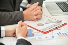 Biznesmena spotkanie z bizneswomanem Fotografia Stock