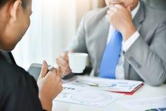 Biznesmena spotkanie z bizneswomanem Zdjęcie Stock