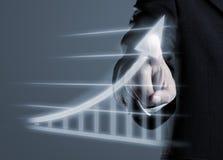 Biznesmena sukcesu rysunkowy wykres Zdjęcia Stock
