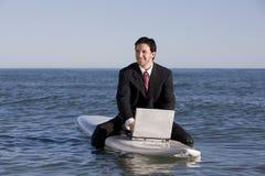 biznesmena surfboard fotografia stock