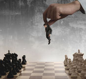 biznesmena szachy Obraz Royalty Free