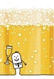 biznesmena szampan Zdjęcie Royalty Free