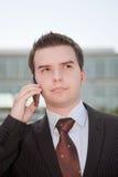 biznesmena telefon komórkowy potomstwa obrazy stock