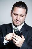 biznesmena telefon komórkowy używać Zdjęcie Stock