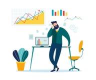 Biznesmena telefonu kom?rkowego rozmowy biznesu dyskusja ilustracja wektor