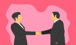Biznesmena uścisk dłoni dla potwierdzenia współpracująca firma szacunek prawość w produktu rozkazie i oddanie wektor ilustracja wektor