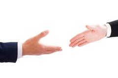 biznesmena uścisk dłoni dwa Zdjęcia Royalty Free