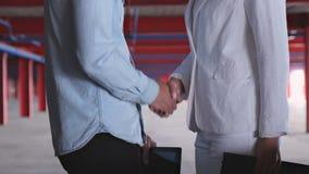 biznesmena uścisk dłoni dwa zdjęcie wideo