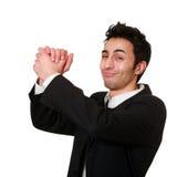 biznesmena uścisk dłoni s Zdjęcia Royalty Free