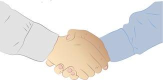 Biznesmena uścisk dłoni Tło dla biznesu i Royalty Ilustracja