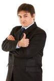 biznesmena ufny gesta seans kciuk ufny Zdjęcie Royalty Free