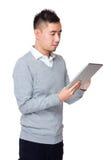 Biznesmena use pastylka komputer osobisty Obrazy Royalty Free