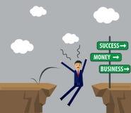 Biznesmena wektoru ilustracja Biznesmen robi decyzi dla s royalty ilustracja
