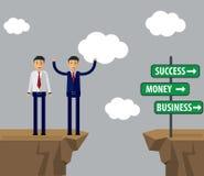 Biznesmena wektoru ilustracja Biznesmen robi decyzi dla s Zdjęcia Stock