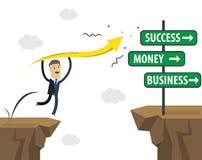 Biznesmena wektoru ilustracja Sukcesu biznes w przyszłości ilustracja wektor