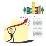 Biznesmena wektoru ilustracja Sukcesu biznes w przyszłości royalty ilustracja